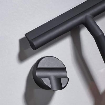 Shower Wiper with Holder | Black