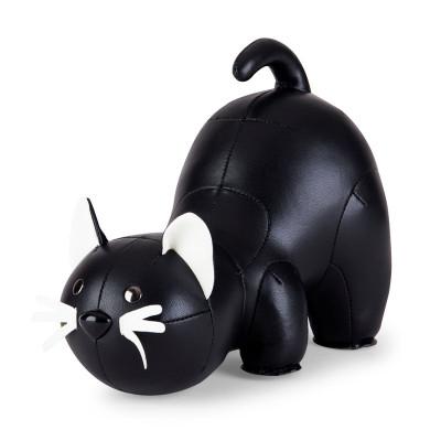 Buchstütze Schwarze Katze