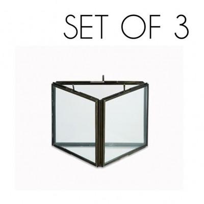Danta Dreifachrahmen 3er-Set   Antik Schwarz