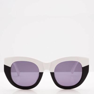 Sonnenbrille Unisex Pacifia | Schwarz-Weiß