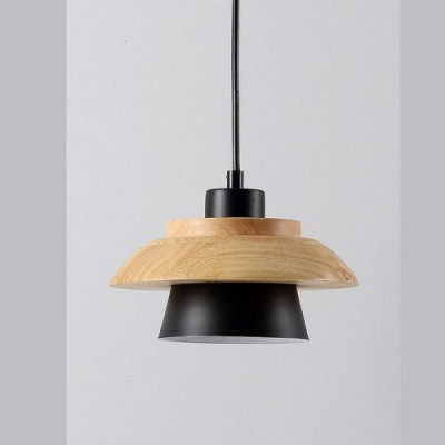 Modern Hanging Lamp   Metal & Solid Wood