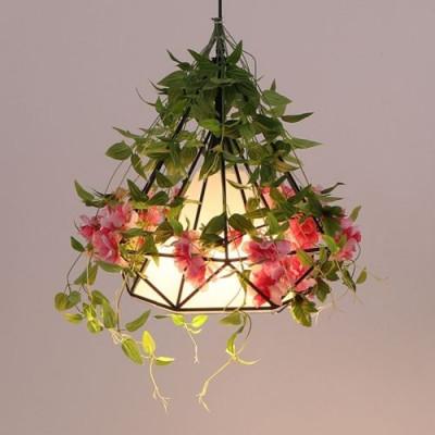 Flower Pendant Light   Red