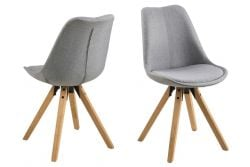 Set of 2 Chairs Nida | Grey & Wood