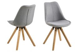Chairs Nida | Set of 2 | Grey & Wood