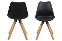 Set of 2 Chairs Nida | Black & Wood