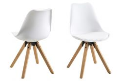 Chairs Nida Set of 2 | White + White Cushion