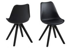 Set of 2 Chairs Nida | Black