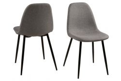 Set of 4 Chairs Wendy | Grey