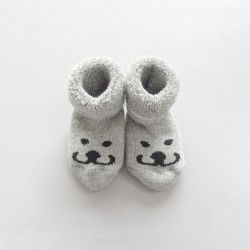 Newborn Socks Smile | Grey