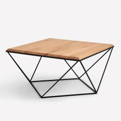 Side Table Daryl 80 | Wood & Black