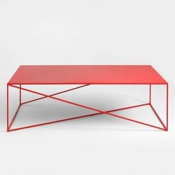 Coffee Table Memo 140 x 80 cm | Rood