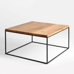 Coffee Table Tensio Wood 80 x 80 cm | Wood & Black