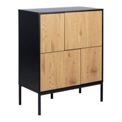 Sideboard Stanley 4 Doors | Black