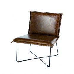 Leather Chair Lewis | Brown Leather