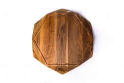 Cutting Board Teak Star Large with Juice Trench