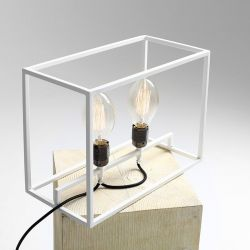 Table Lamp Metric | White