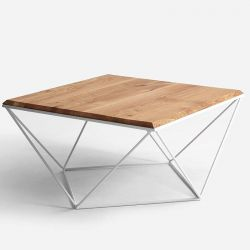 Side Table Daryl 80 | Wood & White