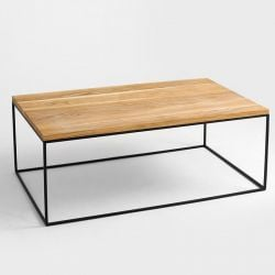 Coffee Table Tensio Wood 100 x 60 cm | Wood & Black