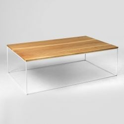 Coffee Table Tensio Wood 140 x 80 cm | Wood & White