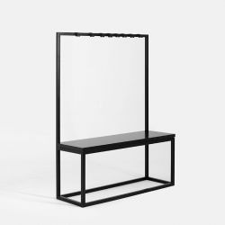 Coat Stand with Bench Next 120 | Black