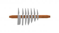 Magnetischer Messerständer Teakholz-Hexagon Groß