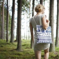 Canvas Bag White/Blue