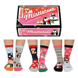 Chausettes Mistletoes | Set de 6