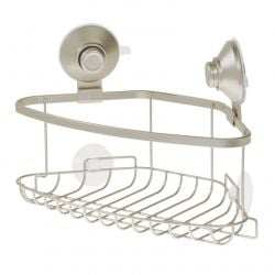 Corner Caddy with Suction Cup and Push Lock | Beige