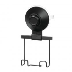 Razor Holder with Suction Cup and Push Lock | Black