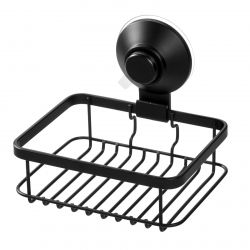 Soap Holder with Suction Cup and Push Lock | Black