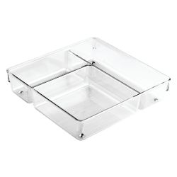 Drawer Organiser 23 x 23 x 5 cm | Transparent