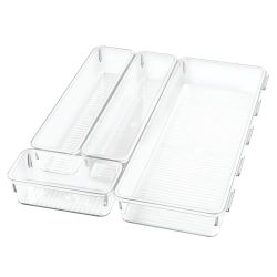 Connectable Drawer Organiser 31 x 38 x 5 cm | Transparent