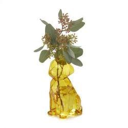Vase Sphinx Hund 15 cm | Bernstein