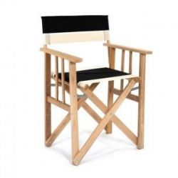 Director Chair | Black/Natural/White Canvas