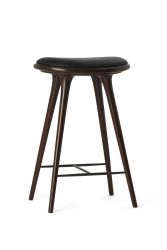 High Stool | Dark Stained Beechwood