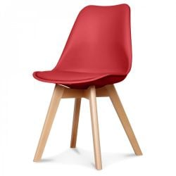 Chaise Scandi | Rouge