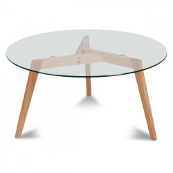 Scandinavian Glass Coffee Table Fiord