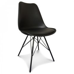 Scandi Chair Metal | Black