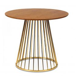 Side Table Romane | Walnut & Gold