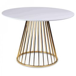 Side Table Romane | White & Gold
