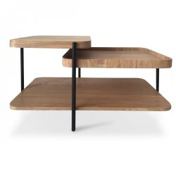 Side Table James | Black & Wood