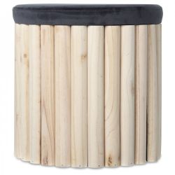 Coffre Stool | Nature & Grey
