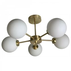 Suspension Edmond 5 Globes | Or