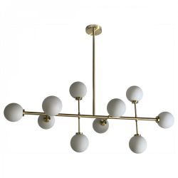 Pendant Lamp Edmond 10 Globes | Gold