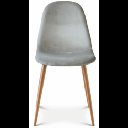 Chair Josef Velvet | Taupe/Wood