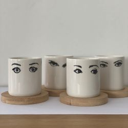 Mugs and Coasters Glance | Set of 4