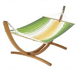 Hängemattenset Buzios aus Holz | Gelb - Grün - Ecru