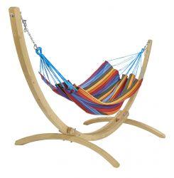 Hängemattenset aus Holz Copacabana | Mehrfarbig