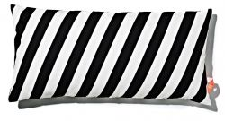 Cushion 40x80cm Black & White - Striped