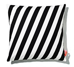 Cushion 60x60cm Black & White - Striped
